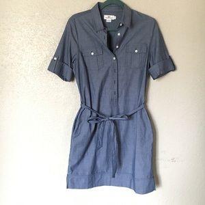 Vineyard Vines Chambray Utility Shirt Dress